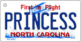 Princess North Carolina State License Plate Key Chain KC-6487