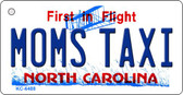 Moms Taxi North Carolina State License Plate Key Chain KC-6488