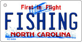 Fishing North Carolina State License Plate Key Chain KC-6494