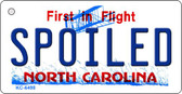 Spoiled North Carolina State License Plate Key Chain KC-6498