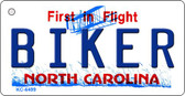 Biker North Carolina State License Plate Key Chain KC-6499