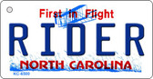 Rider North Carolina State License Plate Key Chain KC-6500