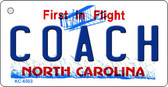 Coach North Carolina State License Plate Key Chain KC-6503