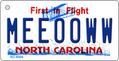 Meeooww North Carolina State License Plate Key Chain KC-6504