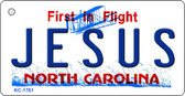 Jesus North Carolina State License Plate Key Chain KC-1761