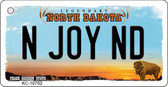 N Joy ND North Dakota State License Plate Key Chain KC-10702