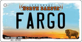 Fargo North Dakota State License Plate Key Chain KC-10703
