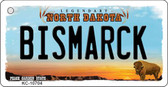 Bismarck North Dakota State License Plate Key Chain KC-10704