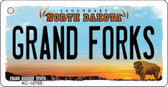 Grand Forks North Dakota State License Plate Key Chain KC-10705