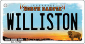 Williston North Dakota State License Plate Key Chain KC-10708