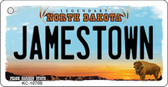 Jamestown North Dakota State License Plate Key Chain KC-10709