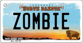 Zombie North Dakota State License Plate Key Chain KC-10710