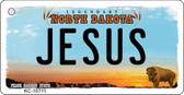 Jesus North Dakota State License Plate Key Chain KC-10711