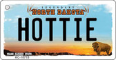 Hottie North Dakota State License Plate Key Chain KC-10713