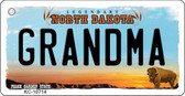 Grandma North Dakota State License Plate Key Chain KC-10714