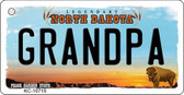 Grandpa North Dakota State License Plate Key Chain KC-10715