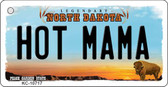 Hot Mama North Dakota State License Plate Key Chain KC-10717