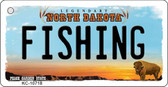 Fishing North Dakota State License Plate Key Chain KC-10718
