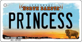Princess North Dakota State License Plate Key Chain KC-10723