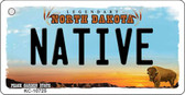 Native North Dakota State License Plate Key Chain KC-10725