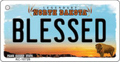 Blessed North Dakota State License Plate Key Chain KC-10726