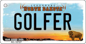 Golfer North Dakota State License Plate Key Chain KC-10727