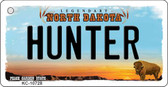 Hunter North Dakota State License Plate Key Chain KC-10728
