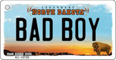 Bad Boy North Dakota State License Plate Key Chain KC-10730