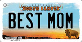Best Mom North Dakota State License Plate Key Chain KC-10731