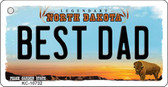Best Dad North Dakota State License Plate Key Chain KC-10732