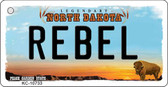 Rebel North Dakota State License Plate Key Chain KC-10733