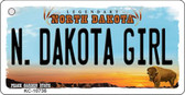 N Dakota Girl State License Plate Key Chain KC-10736