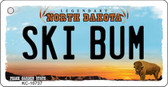 Ski Bum North Dakota State License Plate Key Chain KC-10737