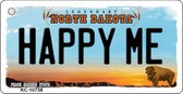 Happy Me North Dakota State License Plate Key Chain KC-10738