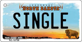 Single North Dakota State License Plate Key Chain KC-10739