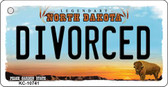 Divorced North Dakota State License Plate Key Chain KC-10741