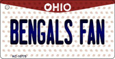 Bengals Fan Ohio State License Plate Key Chain KC-10775