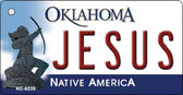 Jesus Oklahoma State License Plate Novelty Key Chain KC-6239