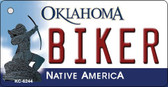 Biker Oklahoma State License Plate Novelty Key Chain KC-6244
