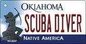 Scuba Diver Oklahoma State License Plate Novelty Key Chain KC-6247