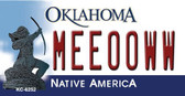 Meeooww Oklahoma State License Plate Novelty Key Chain KC-6252