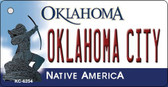 Oklahoma City State License Plate Novelty Key Chain KC-6254