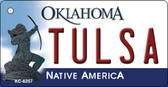 Tulsa Oklahoma State License Plate Novelty Key Chain KC-6257