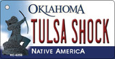 Tulsa Shock Oklahoma State License Plate Novelty Key Chain KC-6258