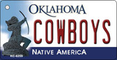 Cowboys Oklahoma State License Plate Novelty Key Chain KC-6259