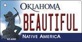 Beautiful Oklahoma State License Plate Novelty Key Chain KC-6260