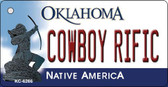 Cowboy Rific Oklahoma State License Plate Novelty Key Chain KC-6266