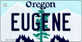 Eugene Oregon State License Plate Key Chain KC-10344