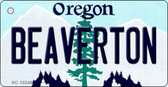 Beaverton Oregon State License Plate Key Chain KC-10346