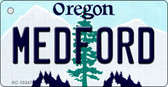 Medford Oregon State License Plate Key Chain KC-10347